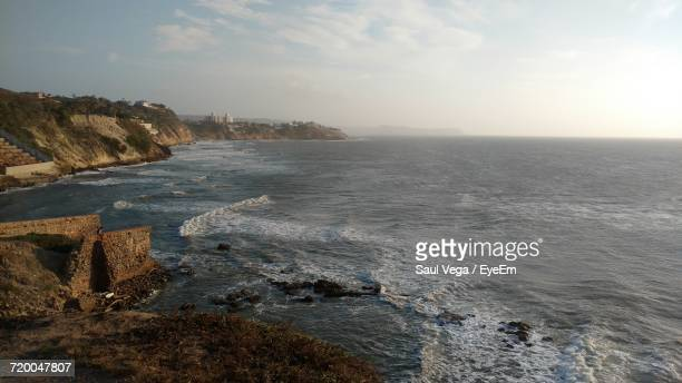 scenic view of sea against cloudy sky - barranquilla stock pictures, royalty-free photos & images