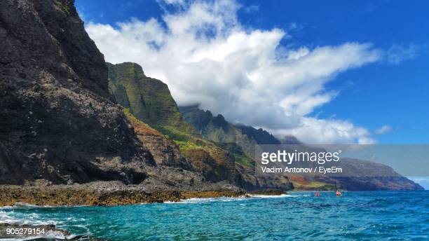 scenic view of sea against cloudy sky - antonov stock pictures, royalty-free photos & images