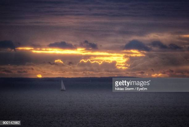 scenic view of sea against dramatic sky - niklas storm eyeem stock photos and pictures