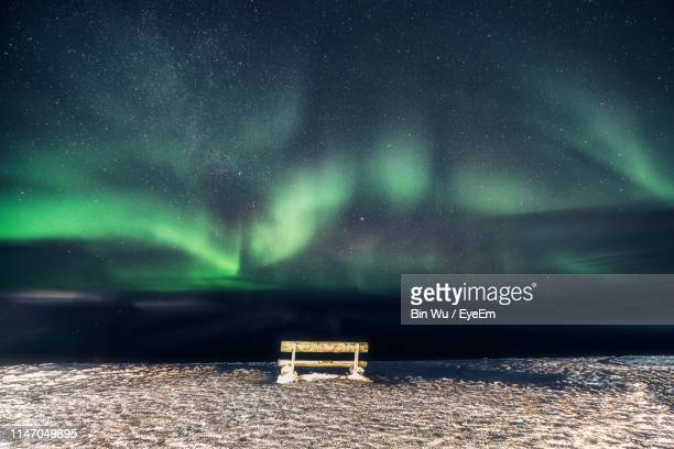 scenic view of sea against sky at night - chilly bin stock photos and pictures