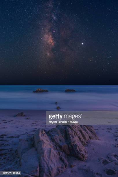 scenic view of sea against sky at night,malibu,california,united states,usa - california stock pictures, royalty-free photos & images