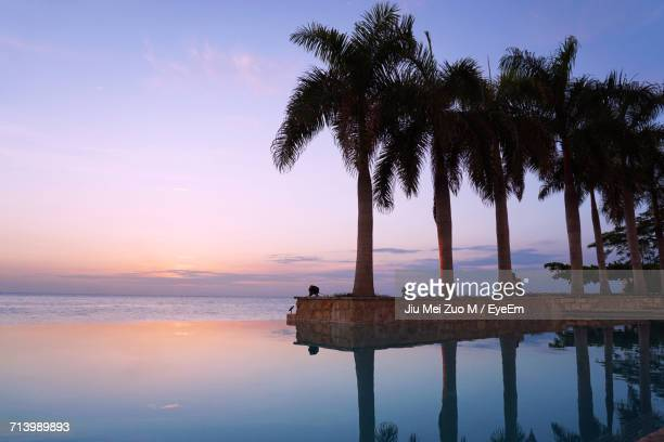 scenic view of sea against sky at sunset - montego bay stock pictures, royalty-free photos & images