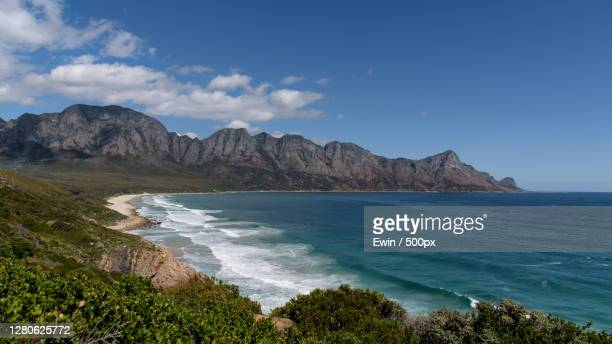 scenic view of sea against sky, cape town, western cape, south africa - south africa stock pictures, royalty-free photos & images