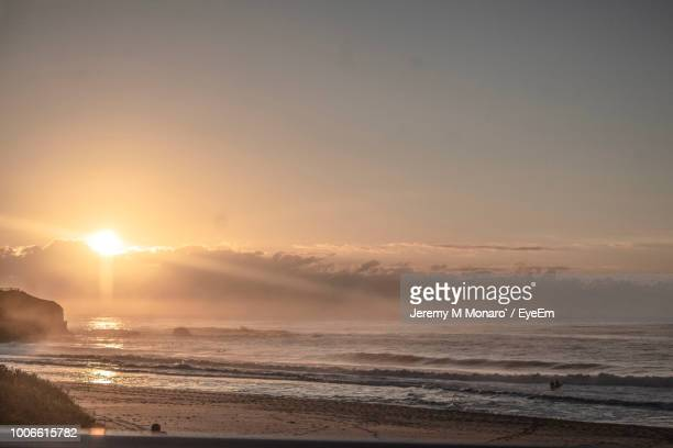 scenic view of sea against sky during sunset - jeremy monaro stock pictures, royalty-free photos & images