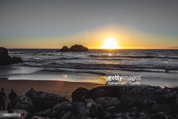 scenic view of sea against sky during sunset - ephraim lem stock pictures, royalty-free photos & images
