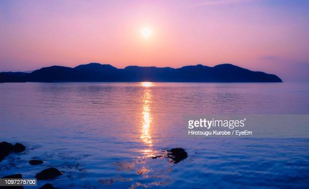 scenic view of sea against sky during sunset - 千葉県 ストックフォトと画像