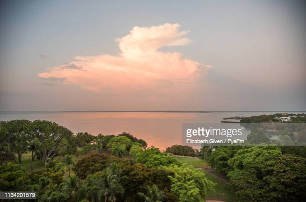 scenic view of sea against sky during sunset - canopy stock pictures, royalty-free photos & images
