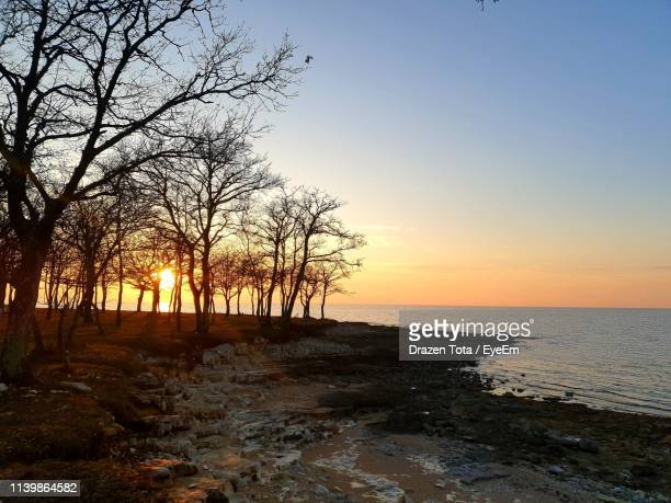 scenic view of sea against sky during sunset - drazen stock pictures, royalty-free photos & images