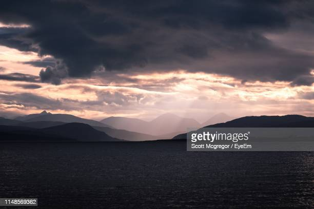scenic view of sea against sky during sunset - mcgregor stock pictures, royalty-free photos & images