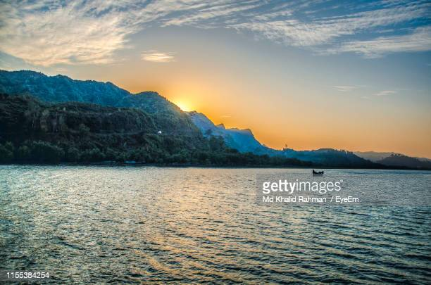 scenic view of sea against sky during sunset - cox's bazaar stock pictures, royalty-free photos & images
