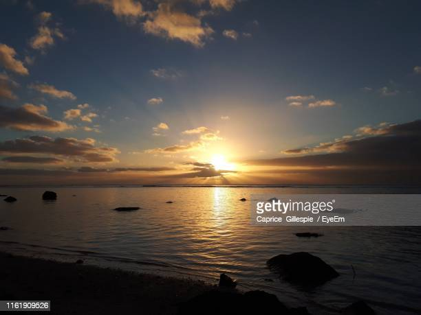 scenic view of sea against sky during sunset - caprice stock pictures, royalty-free photos & images