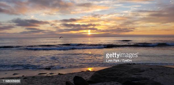scenic view of sea against sky during sunset - old town san diego stock pictures, royalty-free photos & images