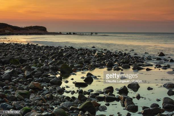 scenic view of sea against sky during sunset - アメリカ大西洋岸中部 ストックフォトと画像