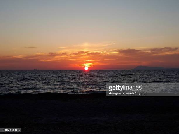 scenic view of sea against sky during sunset - var stock pictures, royalty-free photos & images