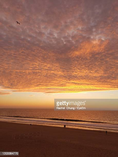 scenic view of sea against sky during sunset - redondo beach california stock pictures, royalty-free photos & images