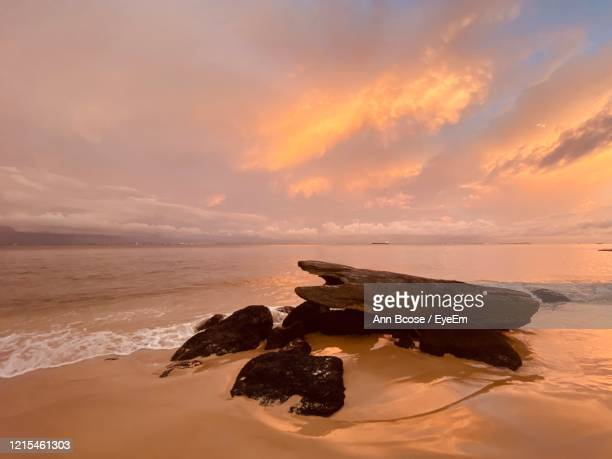 scenic view of sea against sky during sunset - gabon stock pictures, royalty-free photos & images