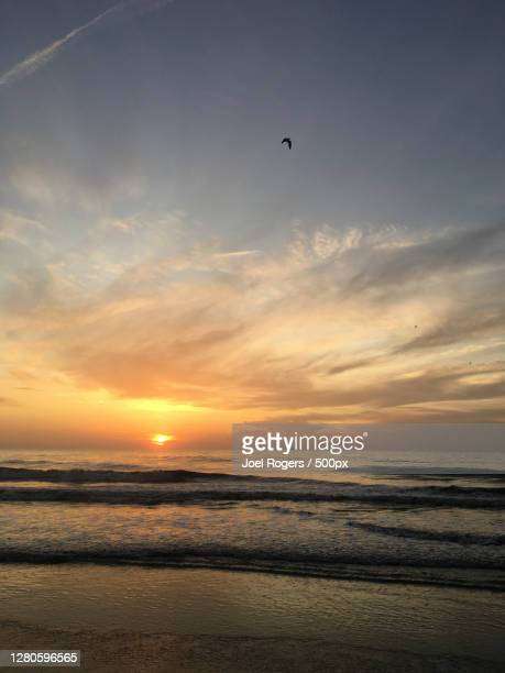 scenic view of sea against sky during sunset - joel rogers stock pictures, royalty-free photos & images