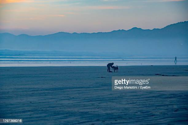 scenic view of sea against sky during sunset - pismo beach stock pictures, royalty-free photos & images