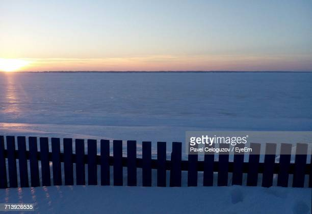 scenic view of sea against sky during sunset - nizhny novgorod oblast stock photos and pictures