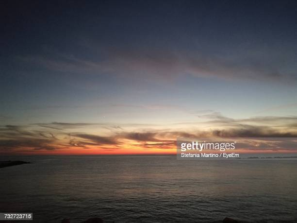 scenic view of sea against sky during sunset - massa stock pictures, royalty-free photos & images