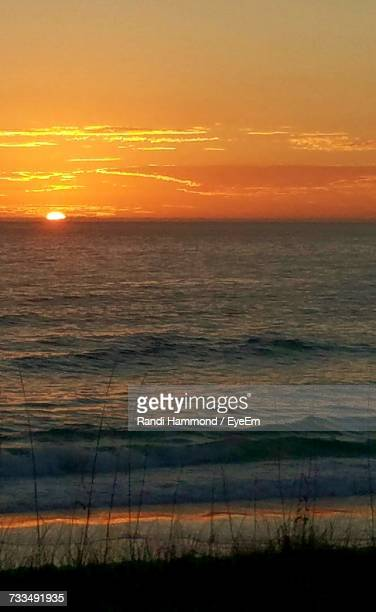 scenic view of sea against sky during sunset - panama city beach stock pictures, royalty-free photos & images