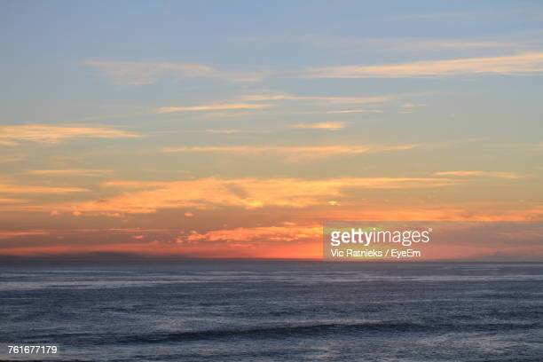 scenic view of sea against sky during sunset - ratnieks stock pictures, royalty-free photos & images