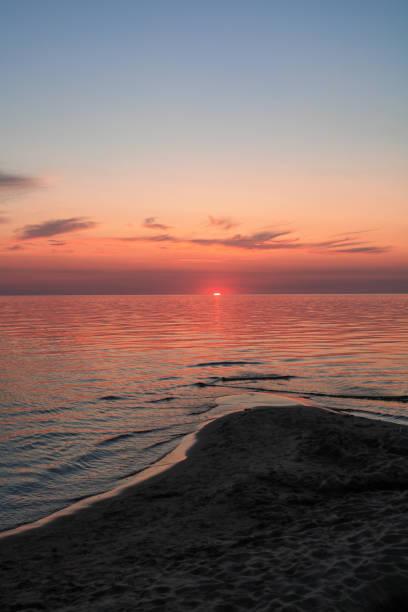 Scenic view of sea against sky during sunset,Latvija,Latvia