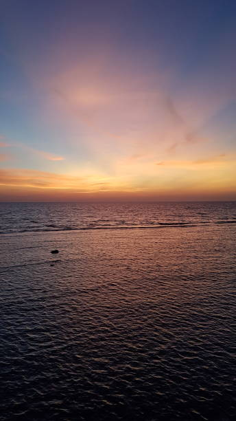 Scenic view of sea against sky during sunset,Saudi Arabia
