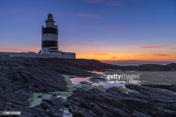 scenic view of sea against sky during sunset,wexford,ireland - ウェックスフォード州 ストックフォトと画像
