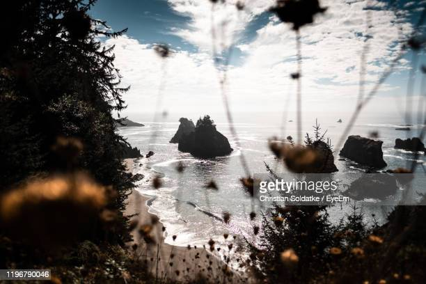 scenic view of sea against sky during winter - christian soldatke stock pictures, royalty-free photos & images