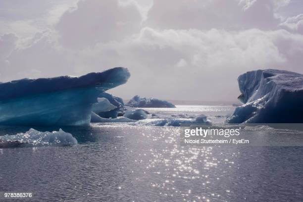 scenic view of sea against sky during winter - stutterheim stock photos and pictures