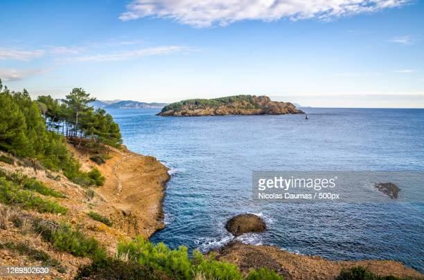 scenic view of sea against sky, la ciotat, france - ラシオタ ストックフォトと画像