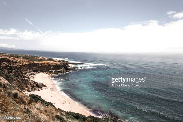 scenic view of sea against sky - arthur stock pictures, royalty-free photos & images