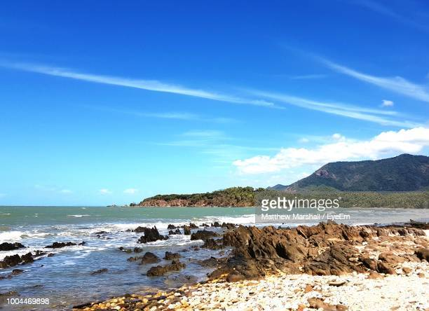scenic view of sea against sky - flowing cape stock pictures, royalty-free photos & images