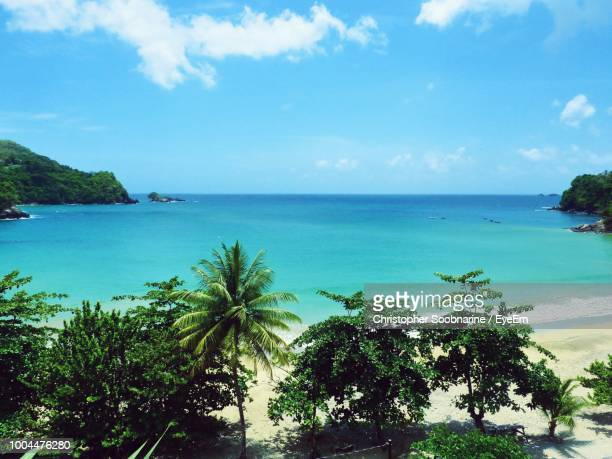 scenic view of sea against sky - trinidad and tobago stock pictures, royalty-free photos & images