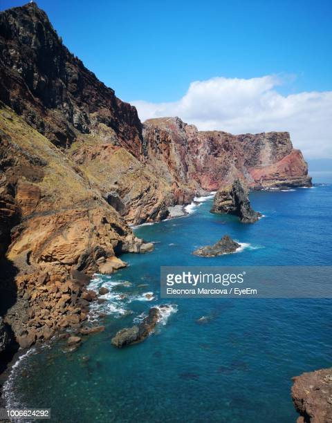 scenic view of sea against sky - funchal stock pictures, royalty-free photos & images