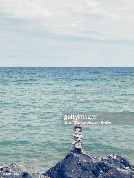scenic view of sea against sky - mackinac island stock pictures, royalty-free photos & images