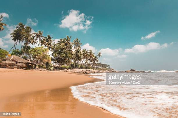 scenic view of sea against sky - sri lanka stock pictures, royalty-free photos & images