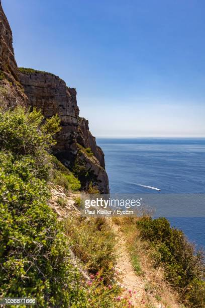 scenic view of sea against sky - keiffer stockfoto's en -beelden