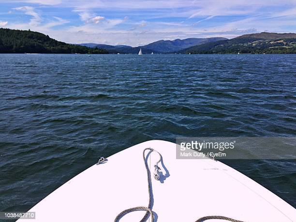 scenic view of sea against sky - mark duffy stock photos and pictures