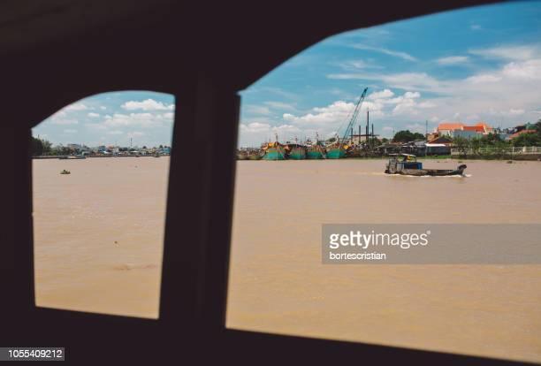 scenic view of sea against sky - bortes - fotografias e filmes do acervo