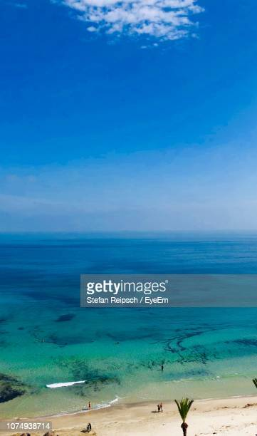 scenic view of sea against sky - sousse stock pictures, royalty-free photos & images