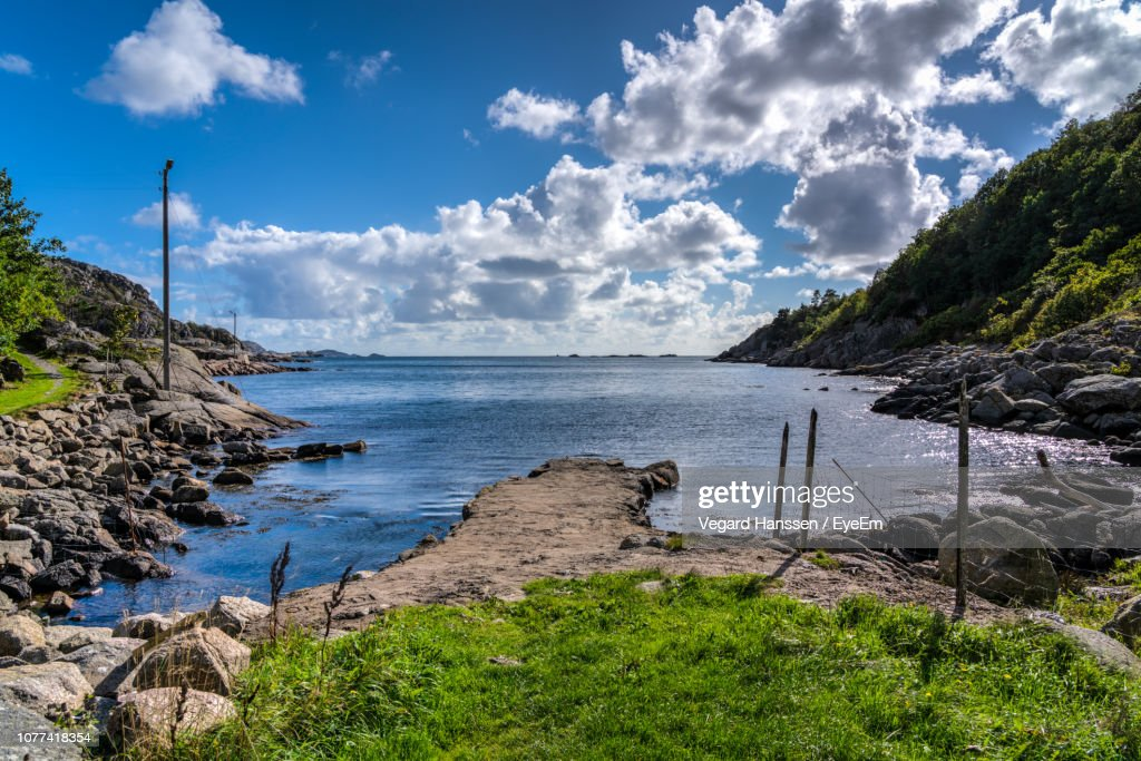 Scenic View Of Sea Against Sky : Stock Photo