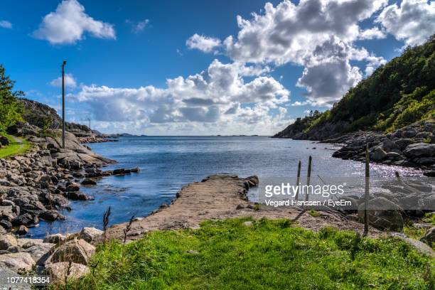scenic view of sea against sky - vegard hanssen stock pictures, royalty-free photos & images