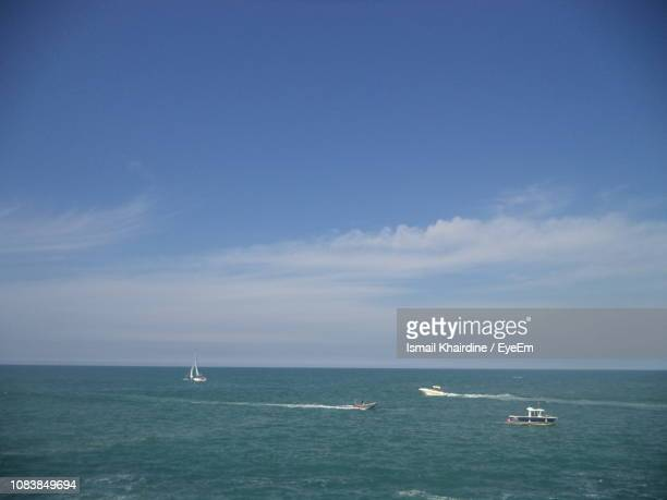 scenic view of sea against sky - ismail khairdine stock photos and pictures