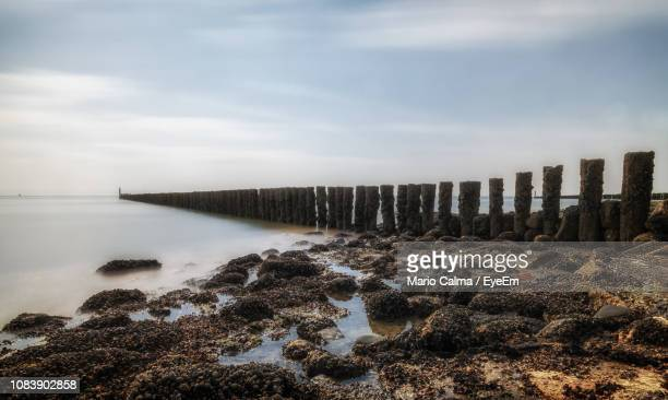 scenic view of sea against sky - zeeland stock pictures, royalty-free photos & images