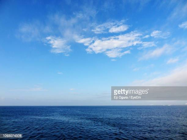 scenic view of sea against sky - pacific ocean stock pictures, royalty-free photos & images