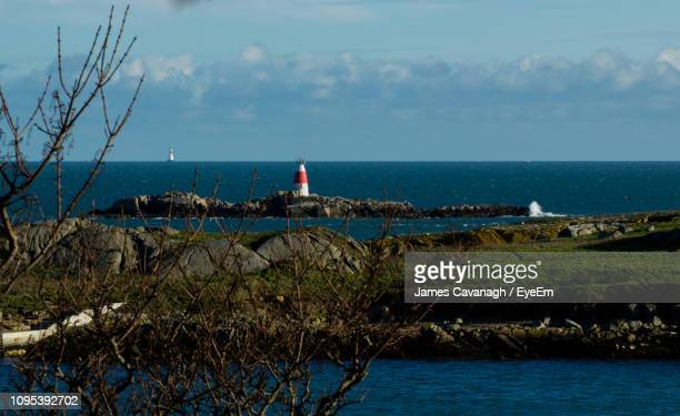 scenic view of sea against sky - dalkey stock pictures, royalty-free photos & images