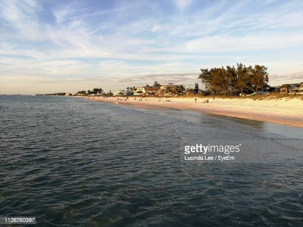 scenic view of sea against sky - bradenton stock pictures, royalty-free photos & images
