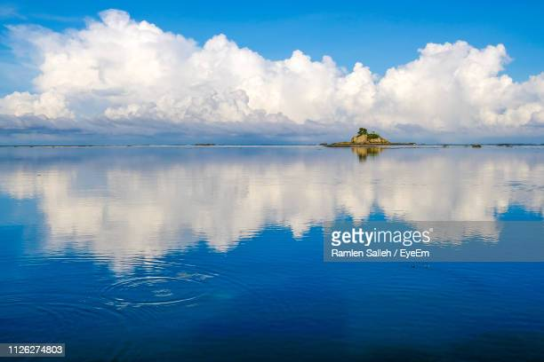 scenic view of sea against sky - kota kinabalu stock pictures, royalty-free photos & images